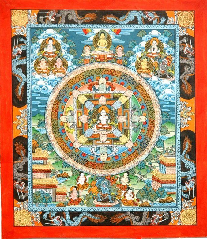 文字で書き表された文字の曼荼羅です。
