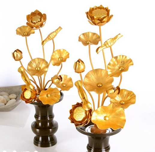 h2-4 仏壇の造花は常花と言う枯れない『蓮の花』